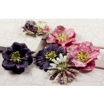Prima - Raspberry Tea Collection - Flower Embellishments - Mix 2, CLEARANCE