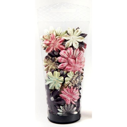 Prima - Raspberry Tea Collection - Flower Embellishments - Essentials Large