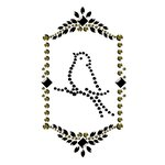 Prima - Say It In Crystals Collection - Self Adhesive Jewel Art - Bling - Vintage Frame - Dark Gray and Cream, CLEARANCE