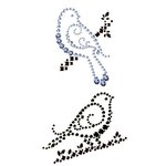 Prima - Say It In Crystals Collection - Self Adhesive Jewel Art - Bling - Vintage Bird - Birds of a Feather, CLEARANCE