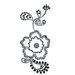 Prima - Say It In Crystals Collection - Self Adhesive Jewel Art - Bling - Flower - Black Diamond, CLEARANCE