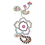 Prima - Say It In Crystals Collection - Self Adhesive Jewel Art - Bling - Flower - Multicolor, CLEARANCE