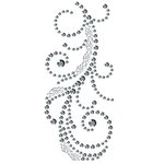 Prima - Say It In Crystals Collection - Self Adhesive Jewel Art - Bling - Swirl with Lace - Clear, CLEARANCE