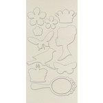 Prima - Self Adhesive Canvas Laminated Chipboard Pieces - Vintage