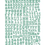 Prima - Paisley Road Collection - Textured Alphabet Stickers - Blue, CLEARANCE