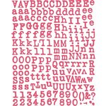 Prima - Annalee Collection - Textured Alphabet Stickers - Pink, CLEARANCE