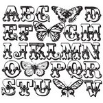 Prima - Paintable Clear Acrylic Stamps - Butterfly