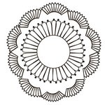 Prima - Paintable Clear Acrylic Stamps - Doily, CLEARANCE