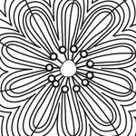 Prima - Paintable Clear Acrylic Stamps - Flowery, CLEARANCE