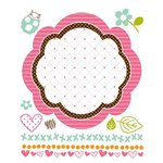 Prima - So Cute Collection - Clear Acrylic Stamps and Self Adhesive Jewels - Mix 1