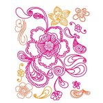 Prima - Paisley Road Collection - Clear Acrylic Stamps and Self Adhesive Jewels - Mix 1, CLEARANCE