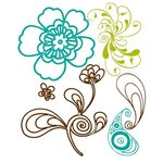 Prima - Paisley Road Collection - Clear Acrylic Stamps and Self Adhesive Jewels - Mix 2