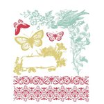 Prima - Annalee Collection - Clear Acrylic Stamps and Self Adhesive Jewels - Mix 1