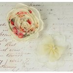 Prima - Clementine Collection - Fabric Flower Embellishments - Bella