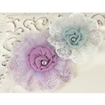 Prima - Poetic Whispers Collection - Fabric Flower Embellishments - Elise, CLEARANCE