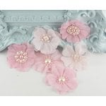 Prima - Louisa May Alcotts Collection - Fabric Flower Embellishments - Bubblegum