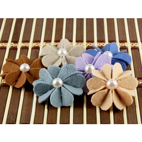 Prima - Kalanchoe Collection - Felt Flower Embellishments - Maize, CLEARANCE