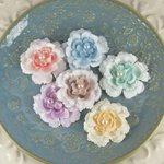 Prima - Angelous Collection - Fabric Flower Embellishments - Baglis, CLEARANCE