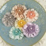 Prima - Angelous Collection - Fabric Flower Embellishments - Bethor, CLEARANCE