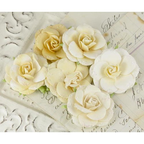 Prima - Love Letter Roses Collection - Flower Embellishments - Peridot