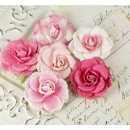 Prima - Love Letter Roses Collection - Flower Embellishments - Quartz