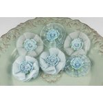 Prima - Bronte Blooms Collection - Fabric Flower Embellishments - Powder Blue, CLEARANCE