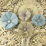 Prima - Faience Collection - Fabric Flower Embellishments - Jorie, CLEARANCE