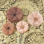 Prima - Faience Collection - Fabric Flower Embellishments - Bradstreet, CLEARANCE