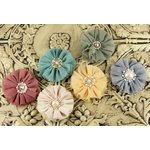 Prima - Faience Collection - Fabric Flower Embellishments - Cecilia, CLEARANCE