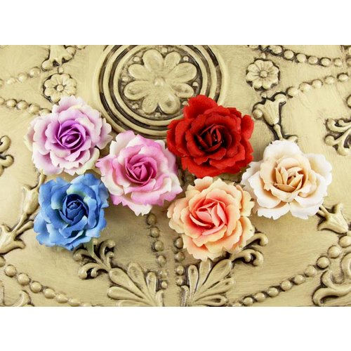 Prima - Roses of Spain Collection - Flower Embellishments - Minstrel, CLEARANCE