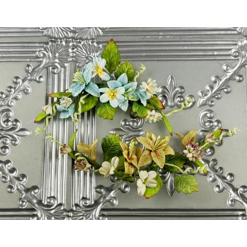 Prima - Mountain Lily Vine Collection - Flower Embellishments - Robins Egg