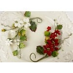 Prima - Holiday Celebration Collection - Flower Embellishments - Frost, CLEARANCE