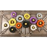 Prima - Autumn Harvest Collection - Flower Embellishments - Hazelnut, CLEARANCE