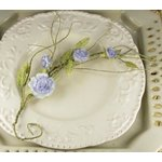 Prima - Summer Carnation Collection - Flower Embellishments - Wisteria, CLEARANCE
