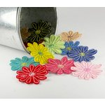 Prima - Stitched Wildflowers Collection - Fabric Flower Embellishments - Wild Peony, CLEARANCE