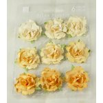 Prima - Sugarplum Roses Collection - Flower Embellishments - Banana, CLEARANCE