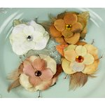 Prima - Tuscany Collection - Flower Embellishments - Seaside, CLEARANCE