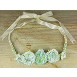 Prima - Scrapbook Jewelry Collection - Jeweled Flower Necklaces - Malachite