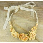 Prima - Scrapbook Jewelry Collection - Jeweled Flower Necklaces - Daffodil