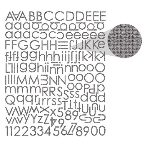 Prima - Textured Alphabet Stickers - Black