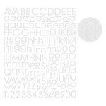Prima - Textured Alphabet Stickers - White