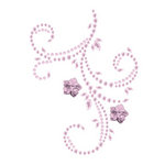 Prima - Say It In Pearls and Crystals Collection - Self Adhesive Jewel Art - Bling - Flourish with Flowers - Pink