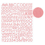 Prima - Textured Alphabet Stickers - Pink, CLEARANCE
