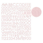 Prima - Textured Alphabet Stickers - Light Pink