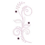 Prima - Say It In Pearls and Crystals Collection - Self Adhesive Jewel Art - Bling - Feathered Hat - Pink