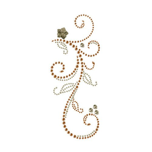 Prima - Say It In Pearls and Crystals Collection - Self Adhesive Jewel Art - Bling - Swan Lake - Brown