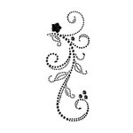 Prima - Say It In Pearls and Crystals Collection - Self Adhesive Jewel Art - Bling - Swan Lake - Black