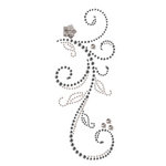 Prima - Say It In Pearls and Crystals Collection - Self Adhesive Jewel Art - Bling - Swan Lake - Black Diamond