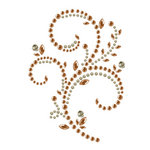 Prima - Say It In Pearls and Crystals Collection - Self Adhesive Jewel Art - Bling - Floral Timepiece - Brown