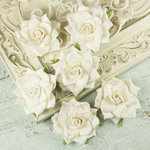 Prima - Arcadian Collection - Flower Embellishments - Weathered White, CLEARANCE